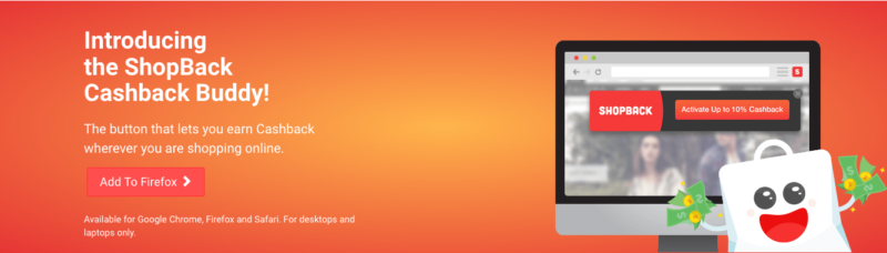 ShopBack Cashback Button Firefox