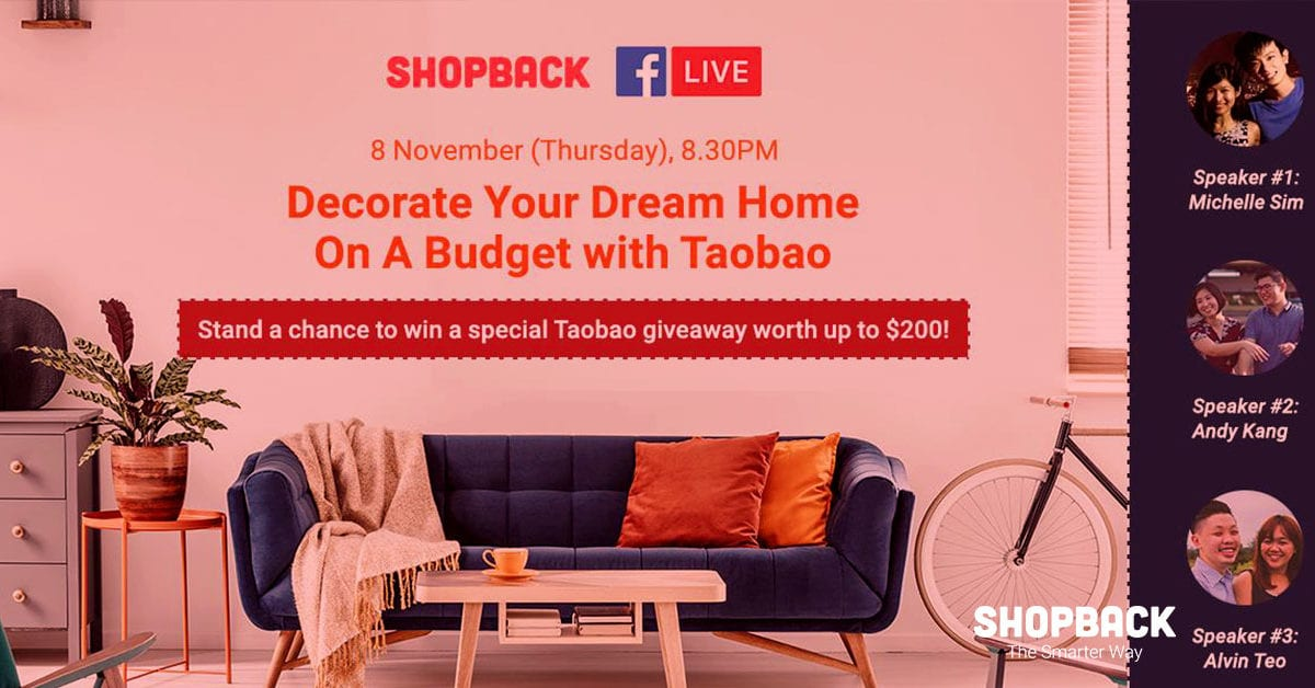 Decorate Your Dream Home On A Budget with Taobao! (FB Live Recap)