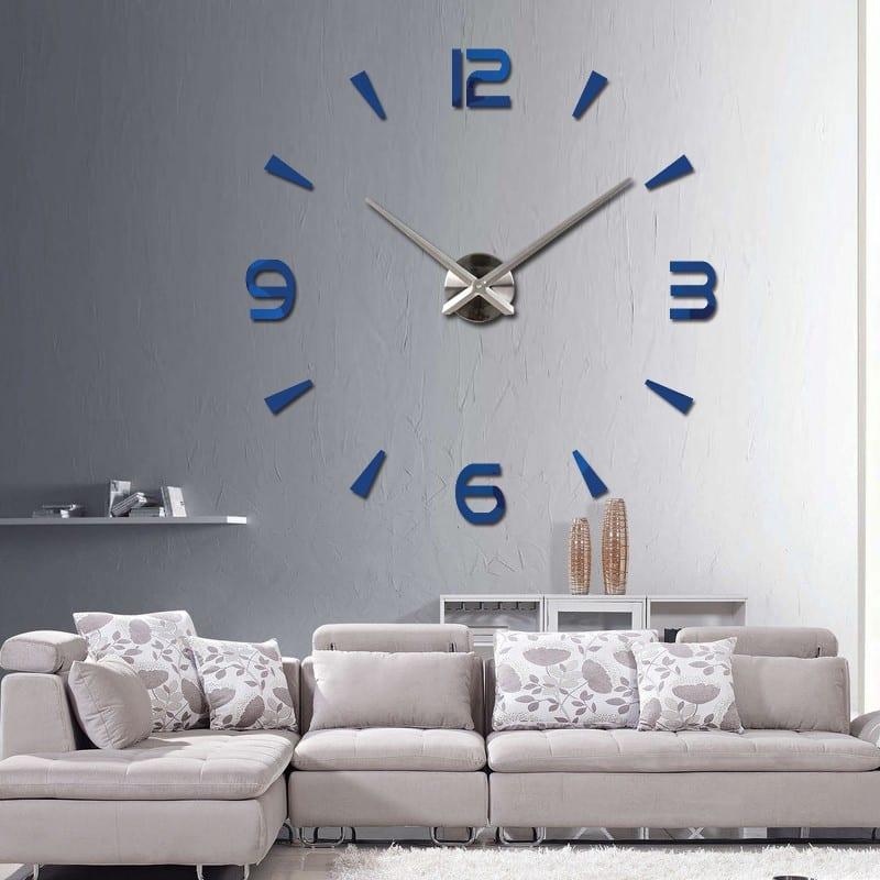 3D wall clock sticker set