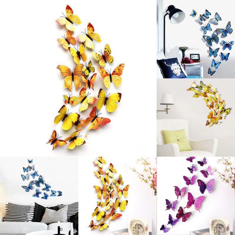 3D wall sticker butterflies