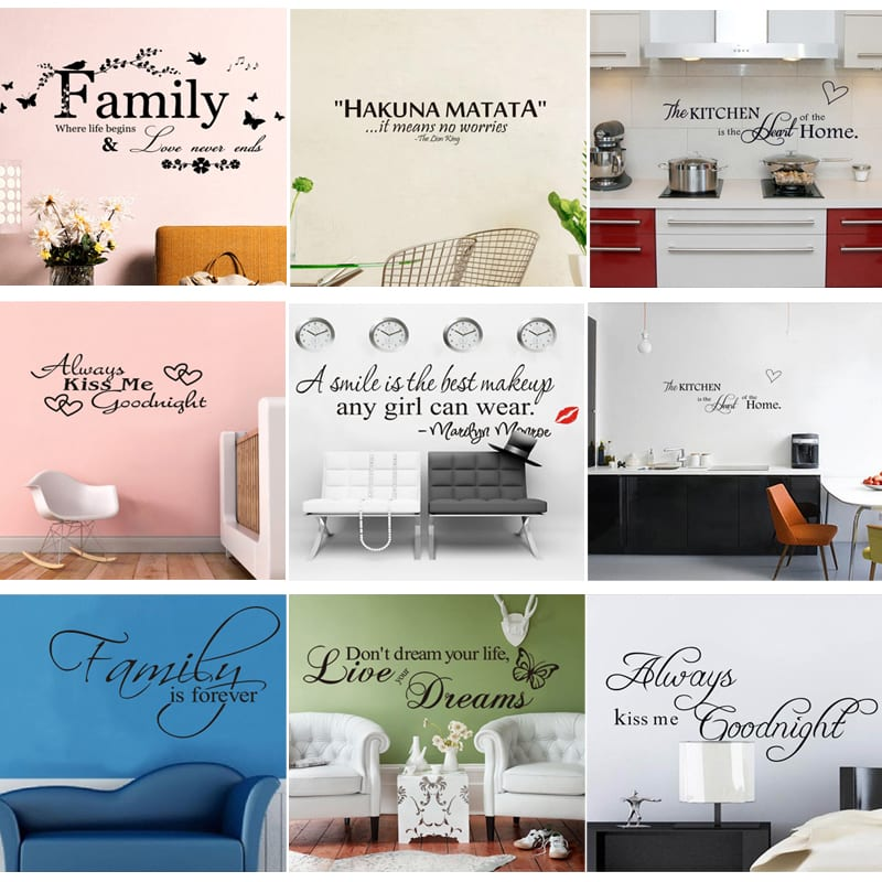 phrases and quotes wall stickers