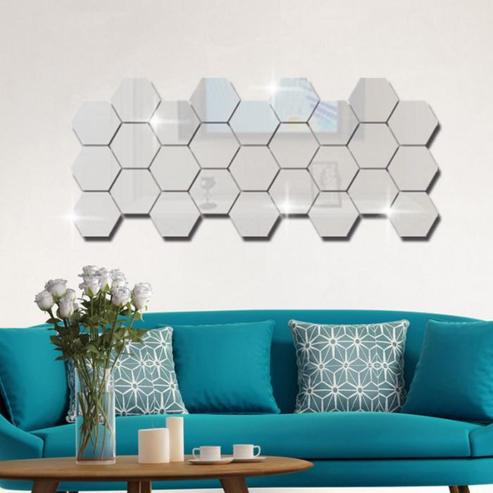Hexagonal acrylic mirrors