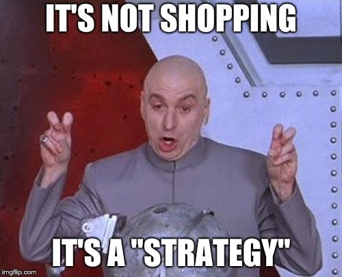 Dr Evil Not Shopping It's Strategy