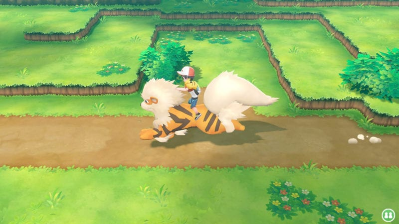 Pokemon Let's Go Ride Arcanine