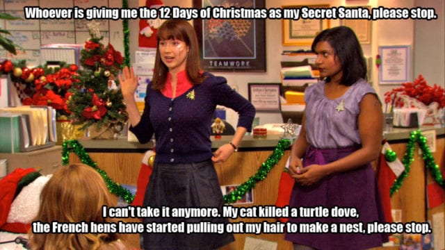 The Office 12 Days Of Christmas