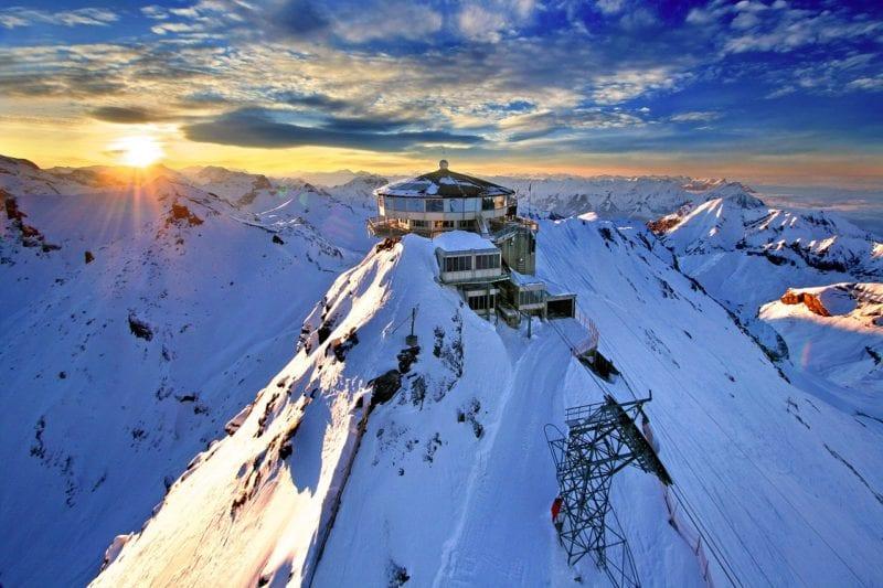 Mountain Station Schilthorn Alpine Switzerland