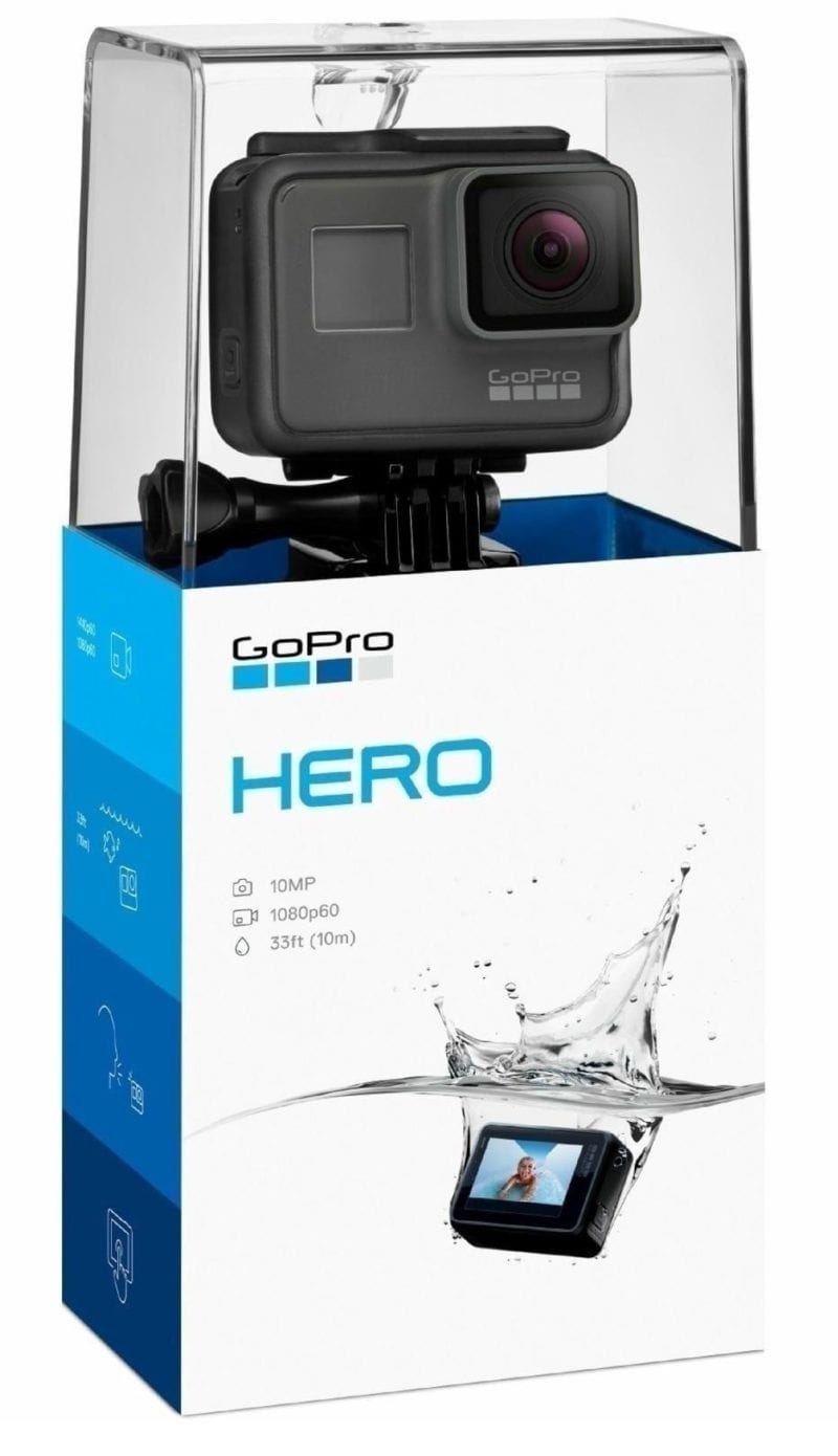 GoPro Hero Session camera in its cased box