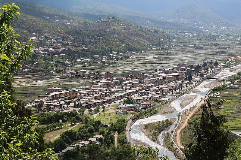 Paro town, Bhutan