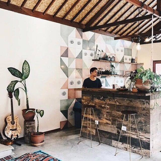 trendy hipster cafe in Bali
