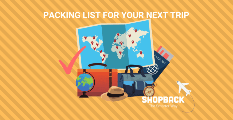 travel essentials packing list guide shopback blog