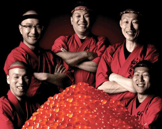 chefs from hachikyo sapporo restaurant