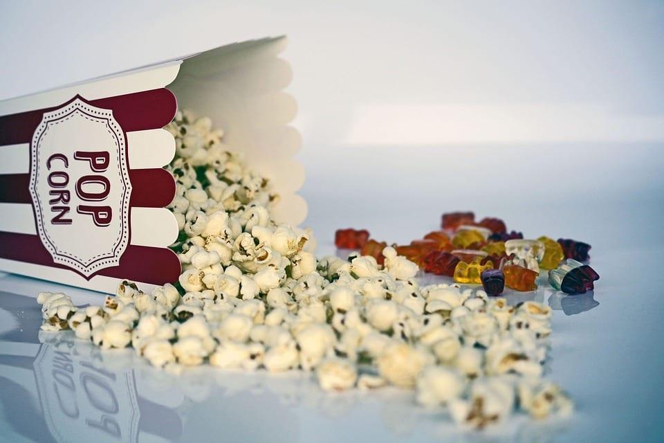 Popcorn and gummy bears