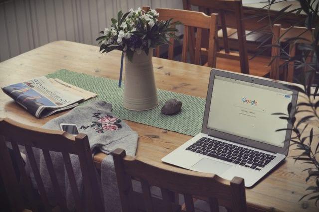 Google Browser open on macbook