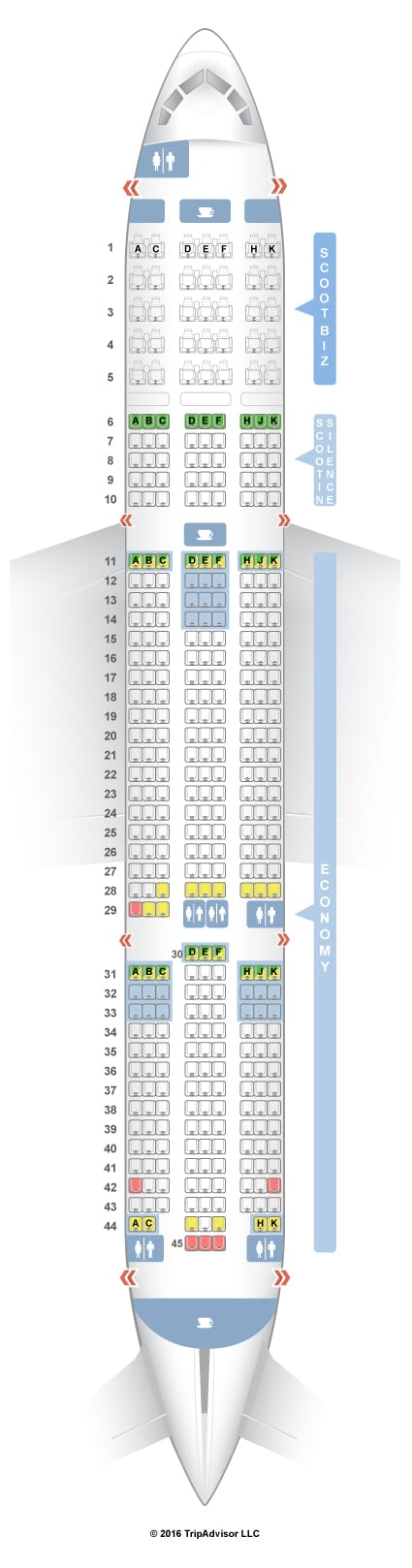 flight seat cabin plan