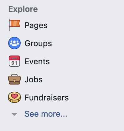 facebook explore tab