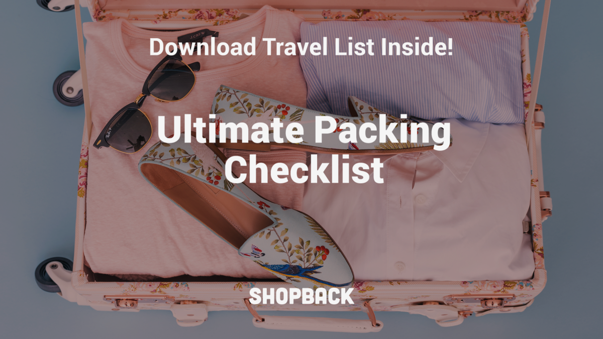The Ultimate Packing Checklist To Use For Any Type of Travel (Download PDF Inside)