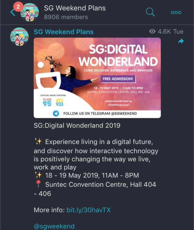 The weekend telegram channel