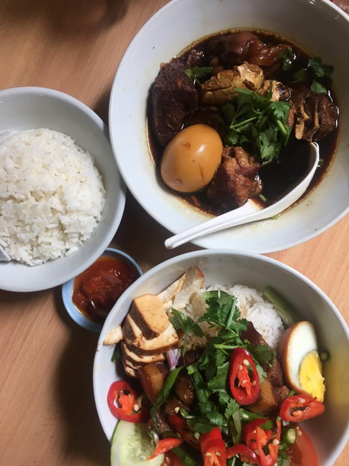 braised pork trotters and rice