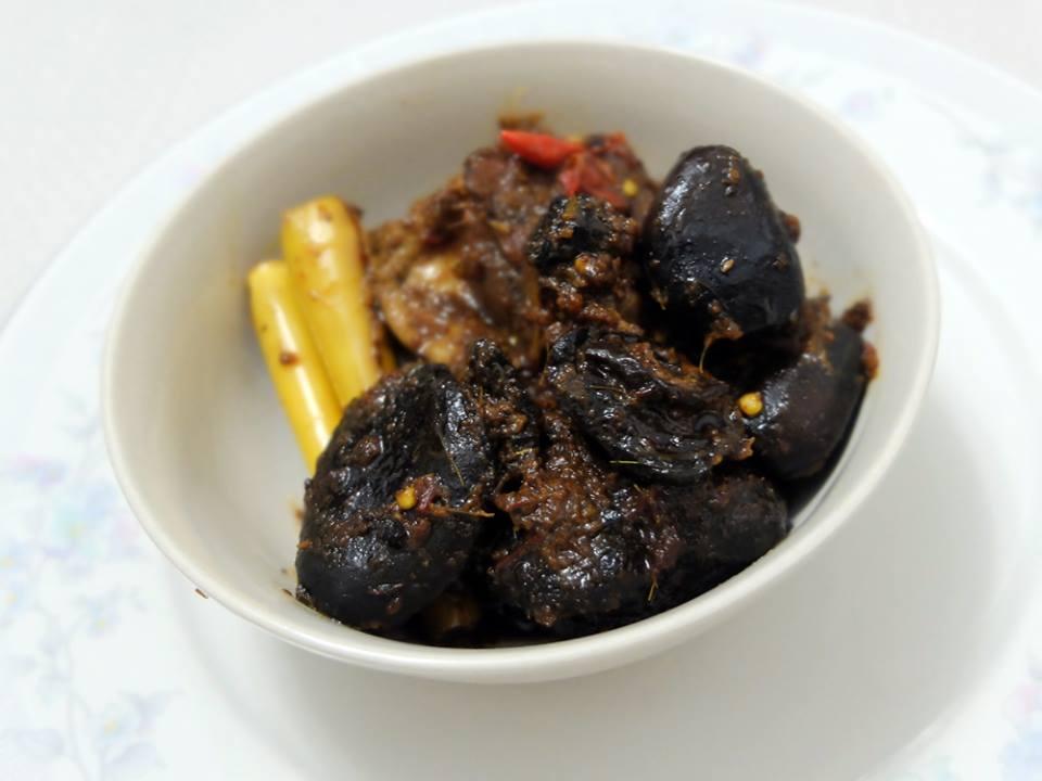 brown Peranakan chicken dish