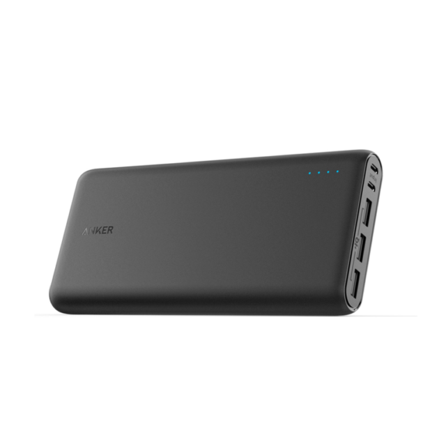 black power bank with 3 usb ports