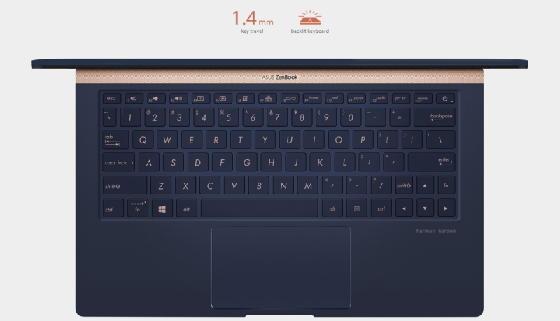 keyboard on Asus Zenbook