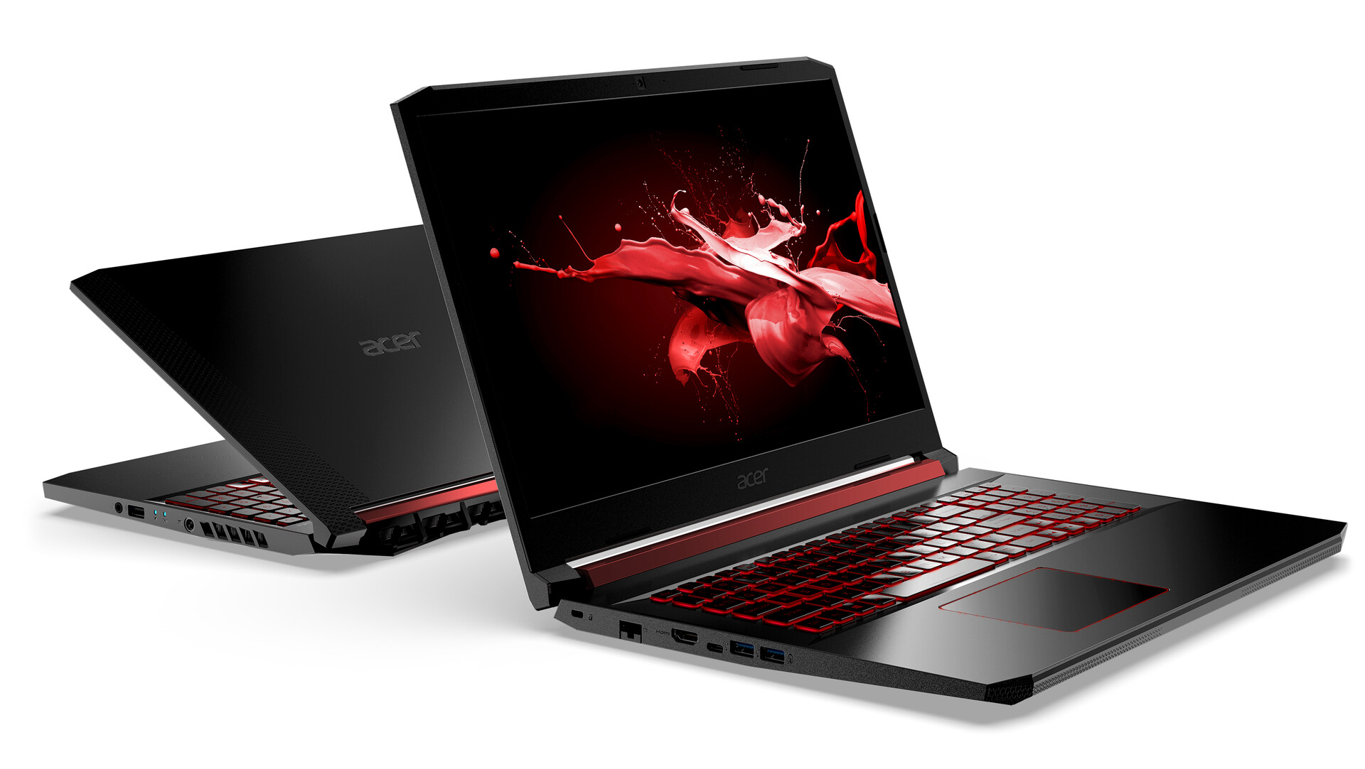 front and back photo of acer gaming laptop