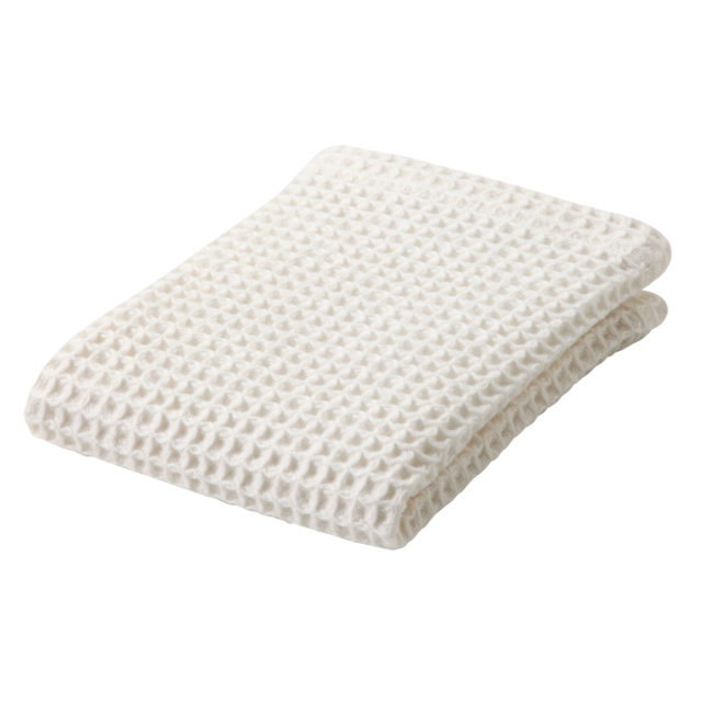 white waffle designed organic cotton hand towel