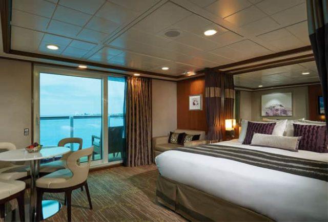 luxury cabin onboard Norwegian cruise line