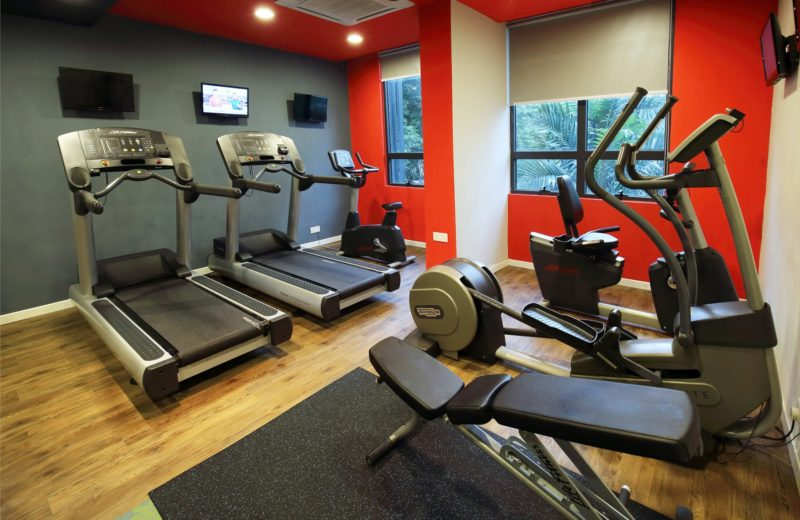 Gym at hotel with full equipment