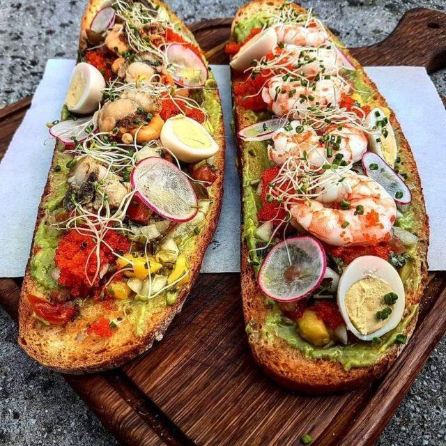 seafood bruschetta