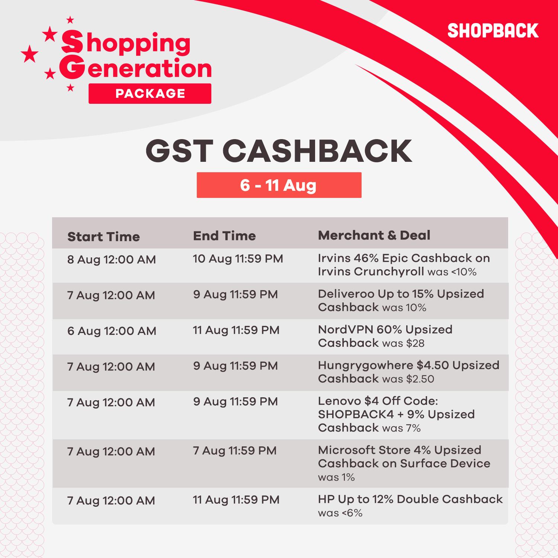 GST cashback banner