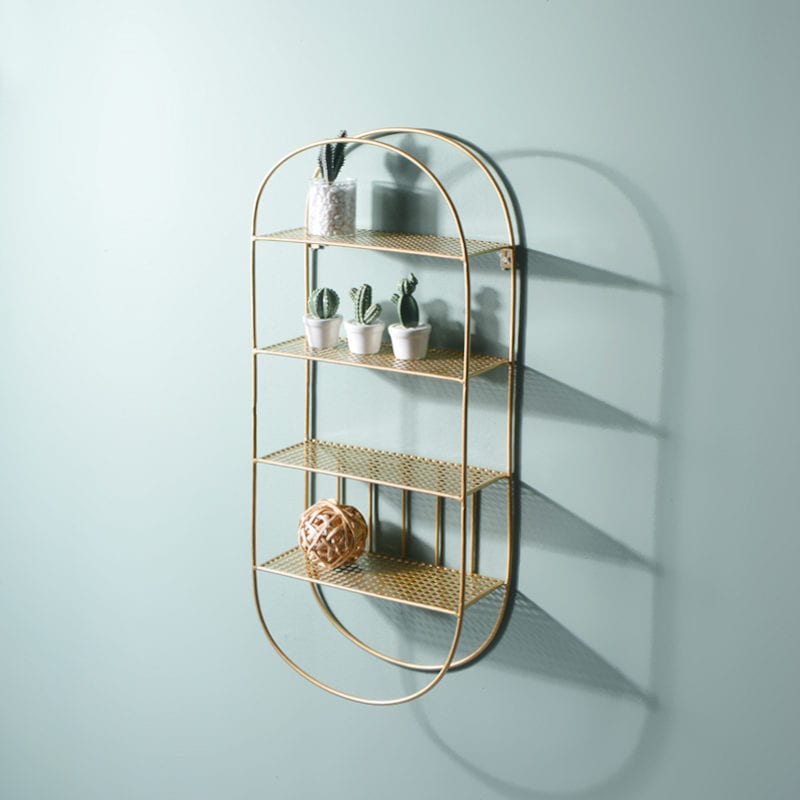 gold metallic rack