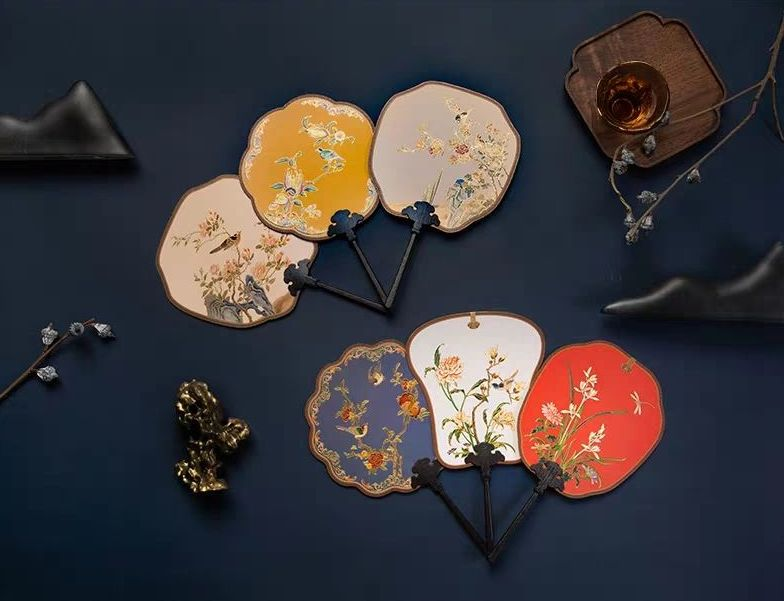 chinese hand fans in six colours
