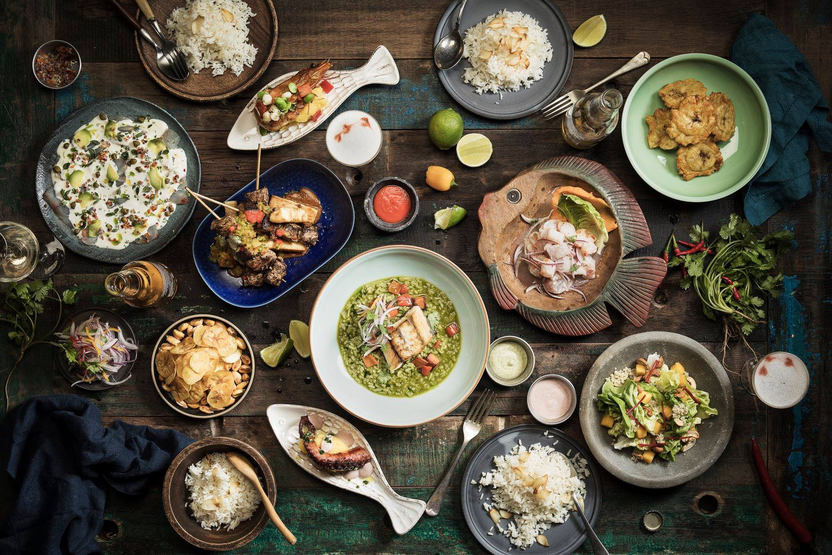 full table of Peru dishes