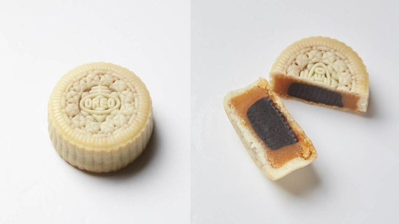 oreo mooncake cut open