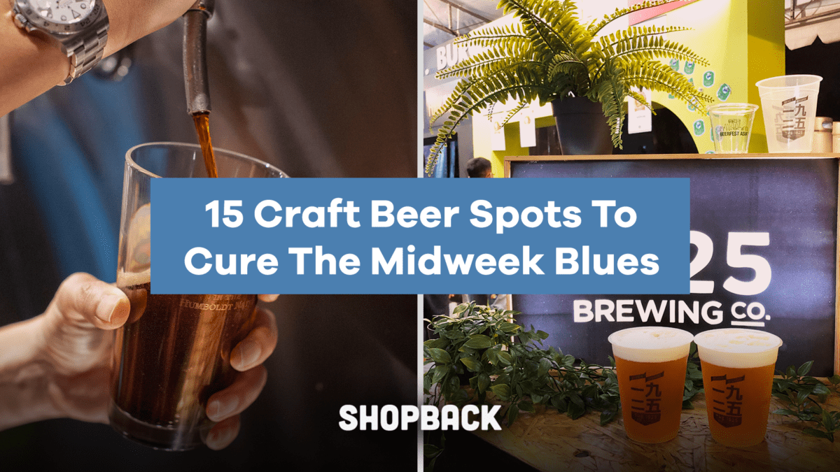15 Craft Beer Spots to Cure Your Midweek Blues (and get Cashback!)