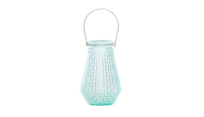 glass flower vase with handle