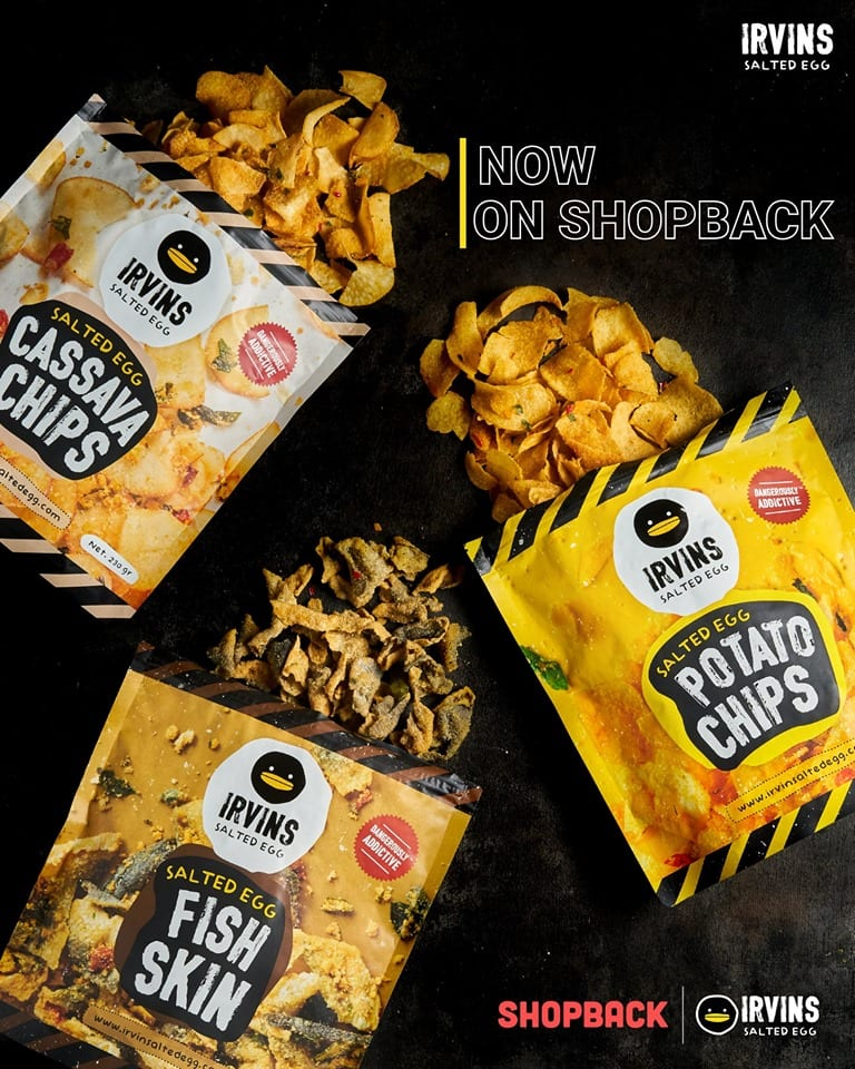 salted egg flavoured chips with black background