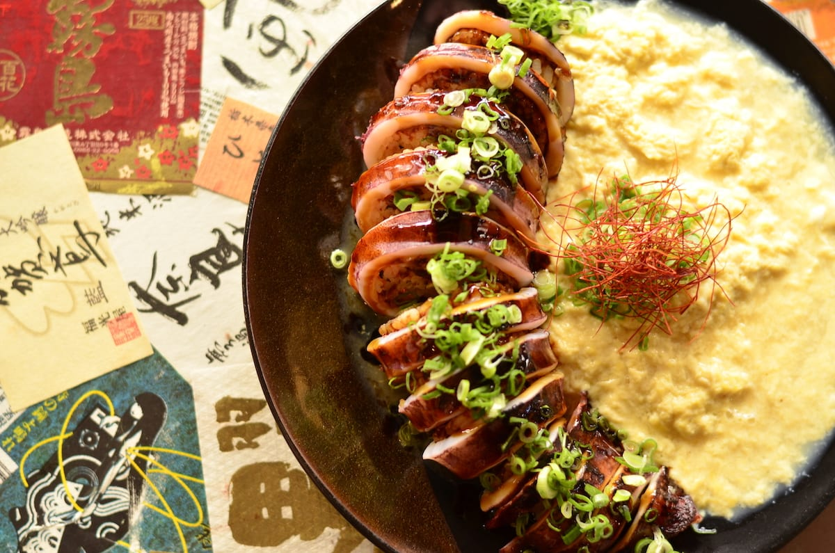 grilled squid with rice