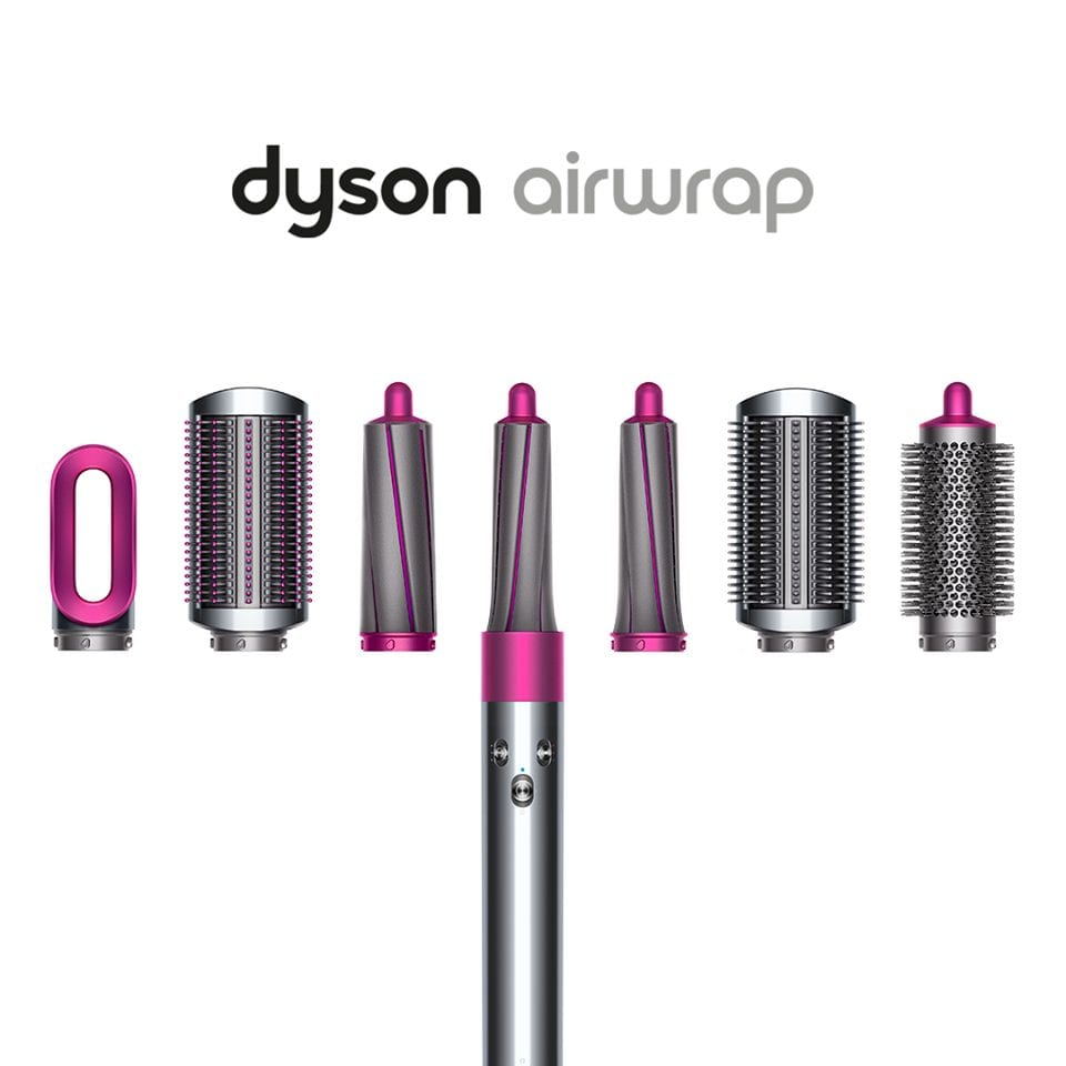 dyson hair curler with 6 accessories