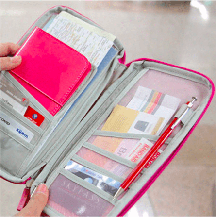 long wallet with compartments