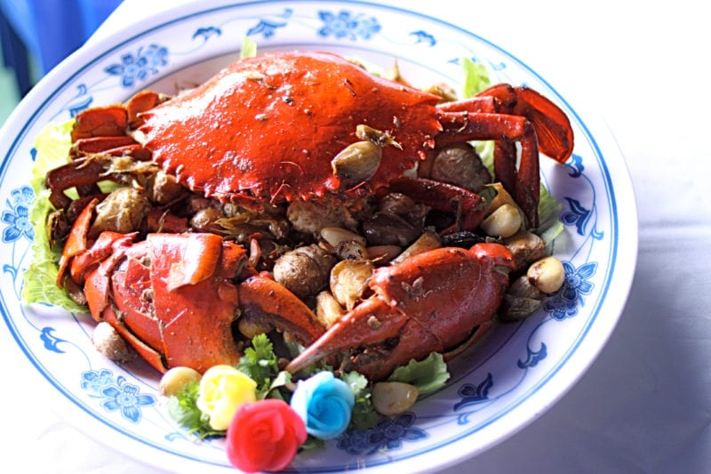 garlic baked crab