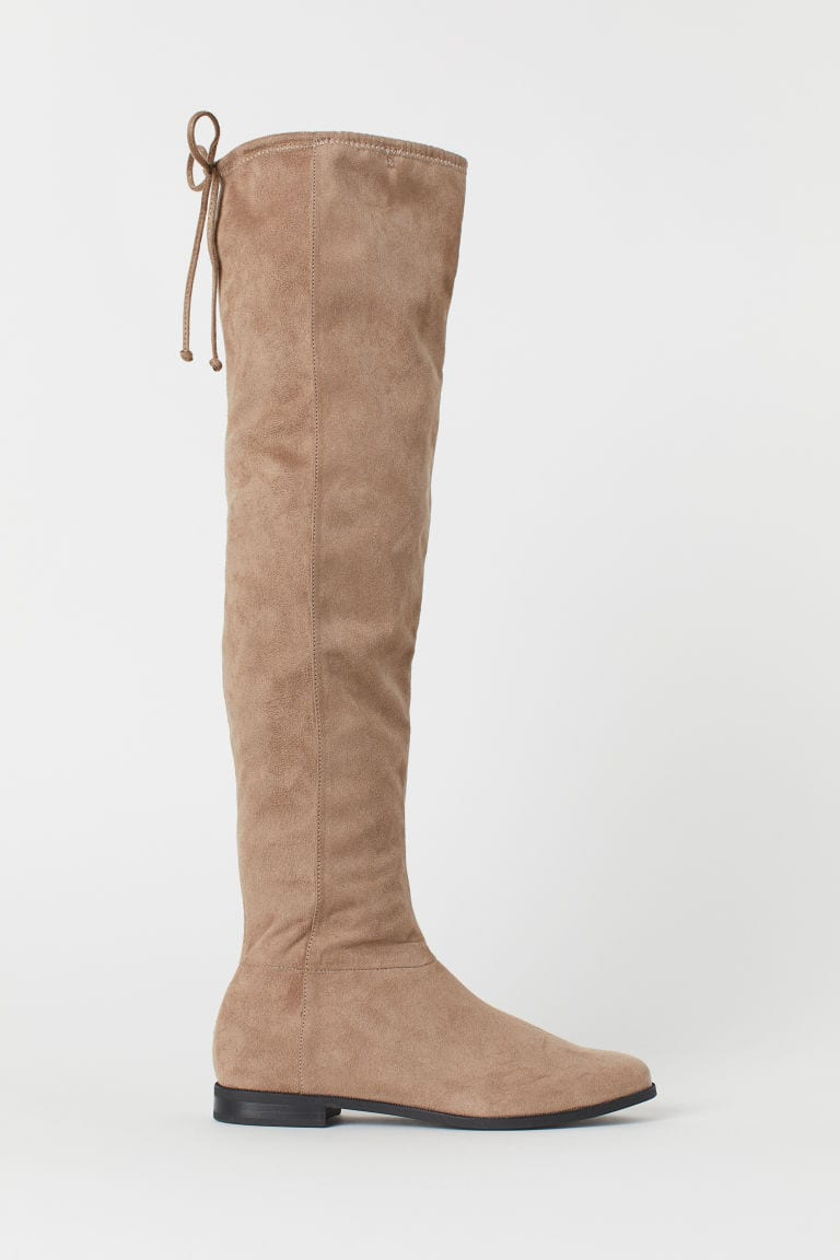 beige coloured suede boots
