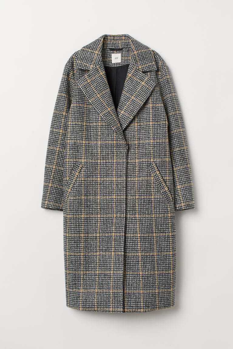 felted black and beige coat