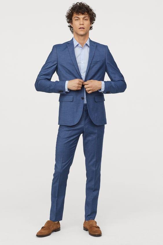blue suit trousers