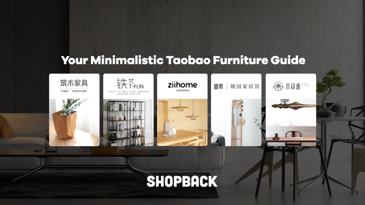 Your Minimalistic Taobao Furniture Guide for This 11.11 Sale