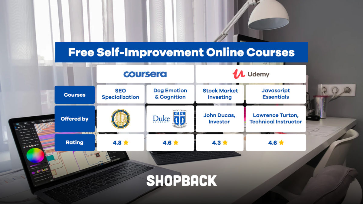 Top Udemy and Coursera Courses You Can Take for Self-Improvement while Staying At Home