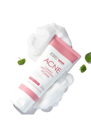 a tube of facial cleanser for clearing up acne