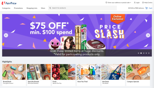 fairprice online grocery store
