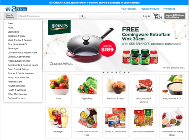 sheng siong online grocery store